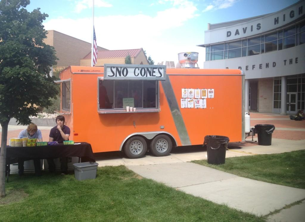 """The orange trailer comes to Davis High every Friday for an alternative lunch idea."""