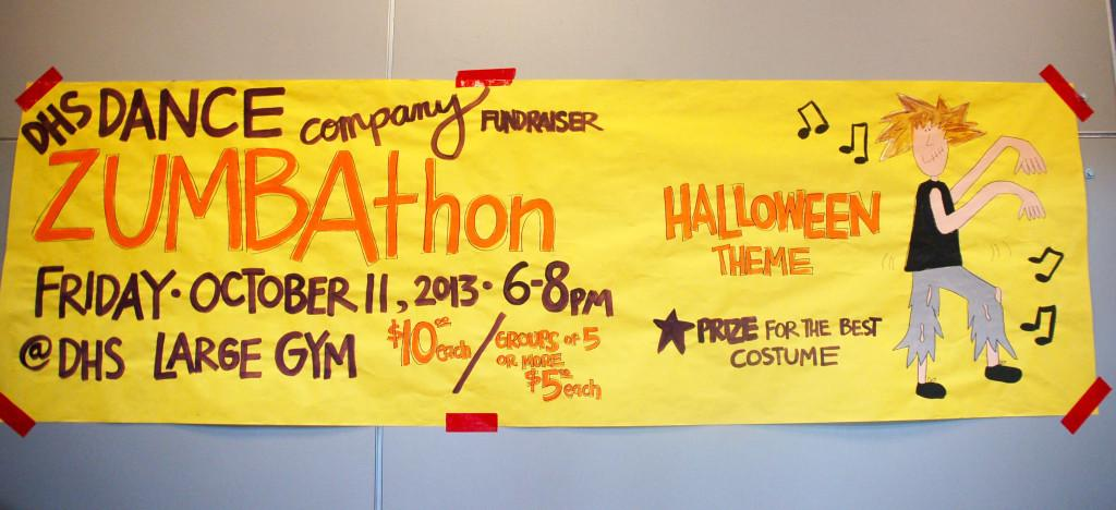 Dance Company is holding a Zumathon October 11. Come join and wear your best costume.