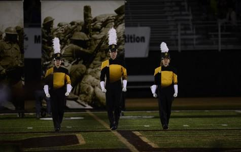 Marching band takes the field in annual Davis Cup