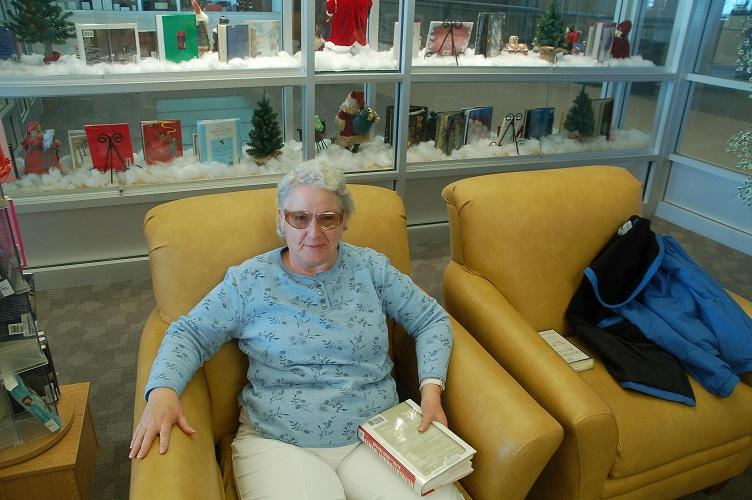 Peggy McFarland: Davis High library patron