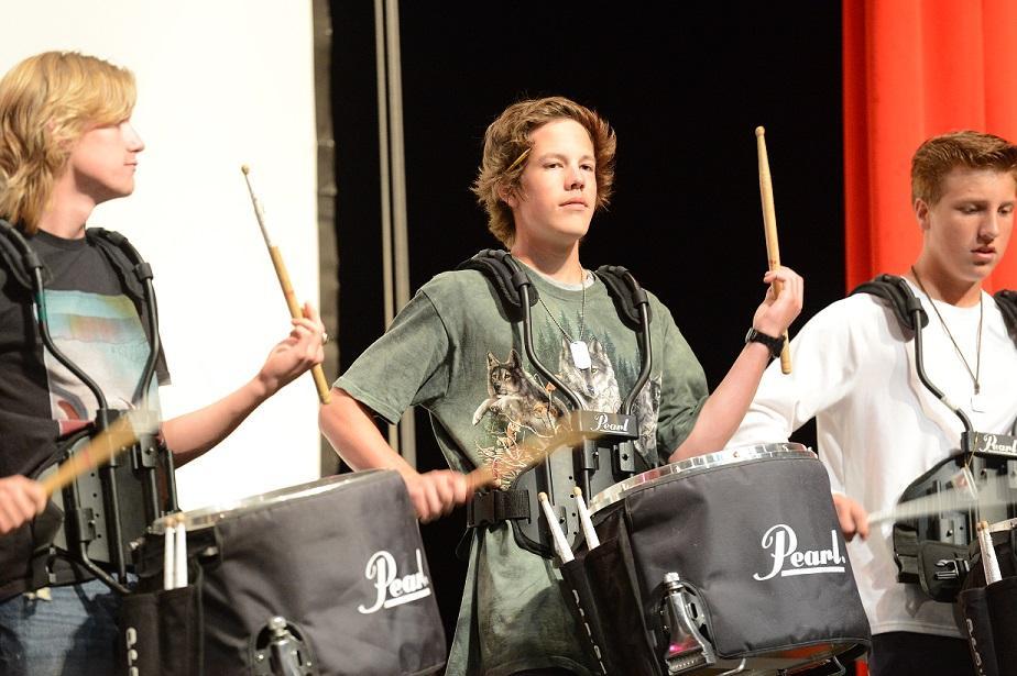 Davis+High+Drum-line+Spot+Light