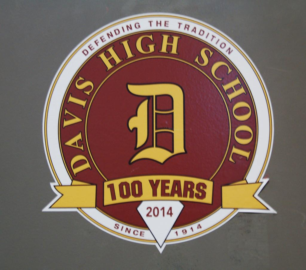 100th year graduating class stickers found all around the school.