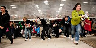 Busy shoppers on Black Friday.