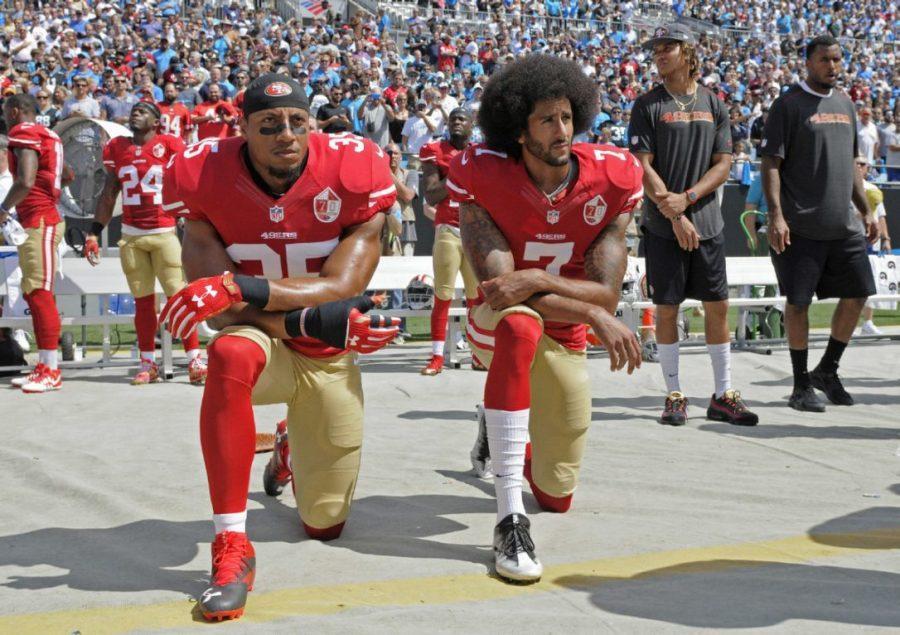 Kaepernick+Sparks+Questions+Over+Patriotism