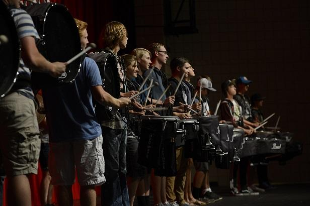 Drumline+Keeps+the+Beat+for+Marching+Band