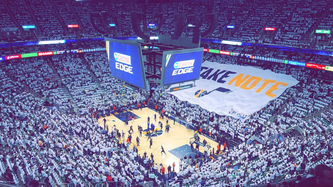 Utah+Jazz+Fans+Enjoy+Return+to+Playoffs