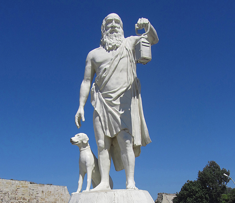 Diogenes, the cynic philosopher that does not care about what think