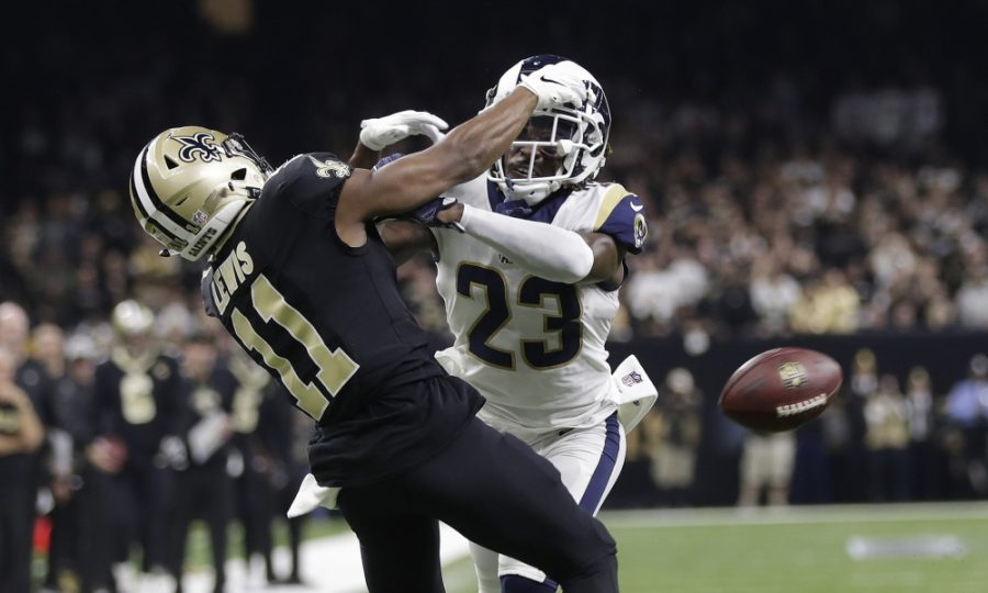 Los+Angeles+Rams%27+Nickell+Robey-Coleman+breaks+up+a+pass+intended+for+New+Orleans+Saints%27+Tommylee+Lewis+during+the+second+half+of+the+NFL+football+NFC+championship+game%2C+Sunday%2C+Jan.+20%2C+2019%2C+in+New+Orleans.+%28AP+Photo%2FGerald+Herbert%29