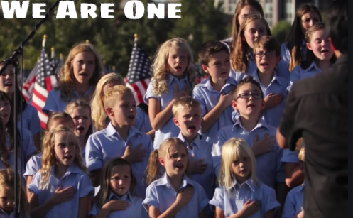 http://www.familyapprovedvideos.com/video/4551/we-are-one-by-one-voice-children-s-choir