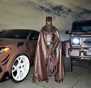Travis Scott in the Batman costume